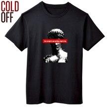 COLD OFF short sleeve summer fashion print men T shirt casual loose david print men tshirt o-neck t-shirt tops men T shirts
