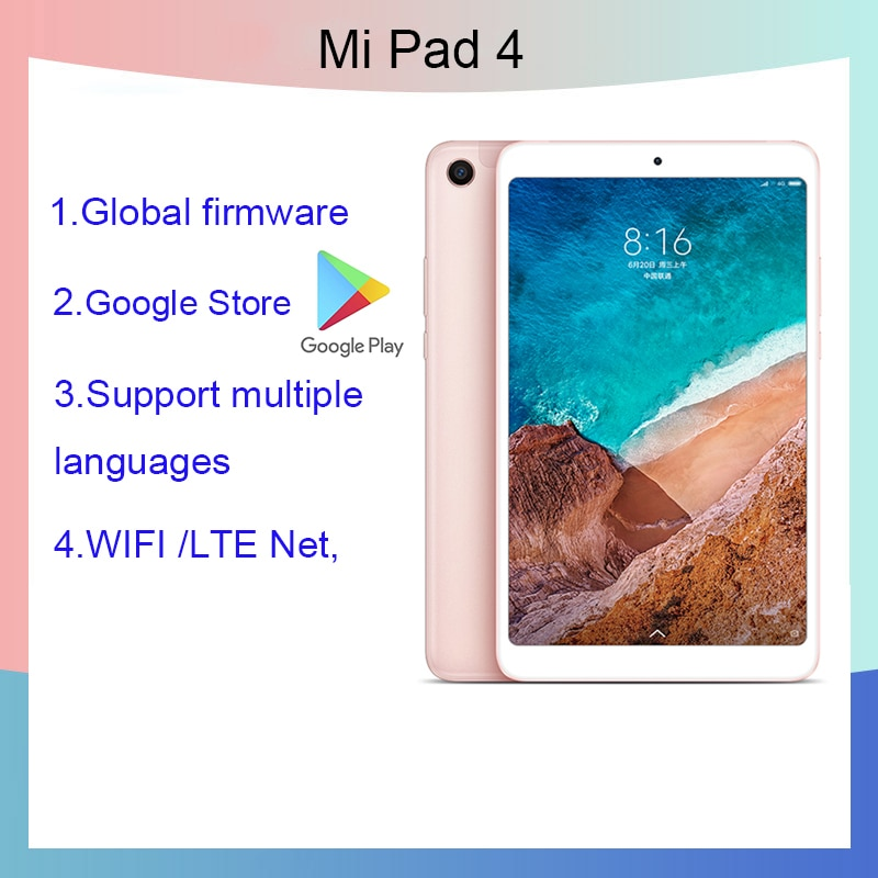 Xiaomi tablet 4  8.0 inch tablet Android 10/Graphics tablets tablette Snapdragon 660AIE  4GB RAM 64GB ROM Tablet PC 1920x1200