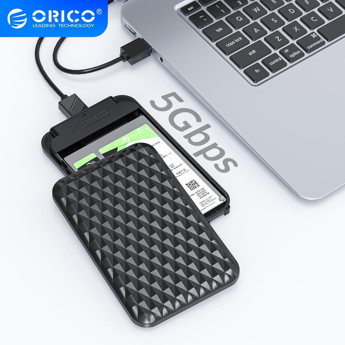 Чехол ORICO для жесткого диска 2,5 дюйма, SATA к USB 3,0, 5 Гбит/с, 4 ТБ корпус SSD, HDD Поддержка UASP Внешний HD чехол, коробка для жесткого диска 7-9,5 мм HDD | Компьютеры и офис | АлиЭкспресс