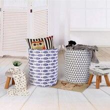 Urijk Laundry Basket Large Hamper Foldable Bag For Dirty Clothes Organizer Print Toy Gift Organizer Laundry Bag Picnic Baskets