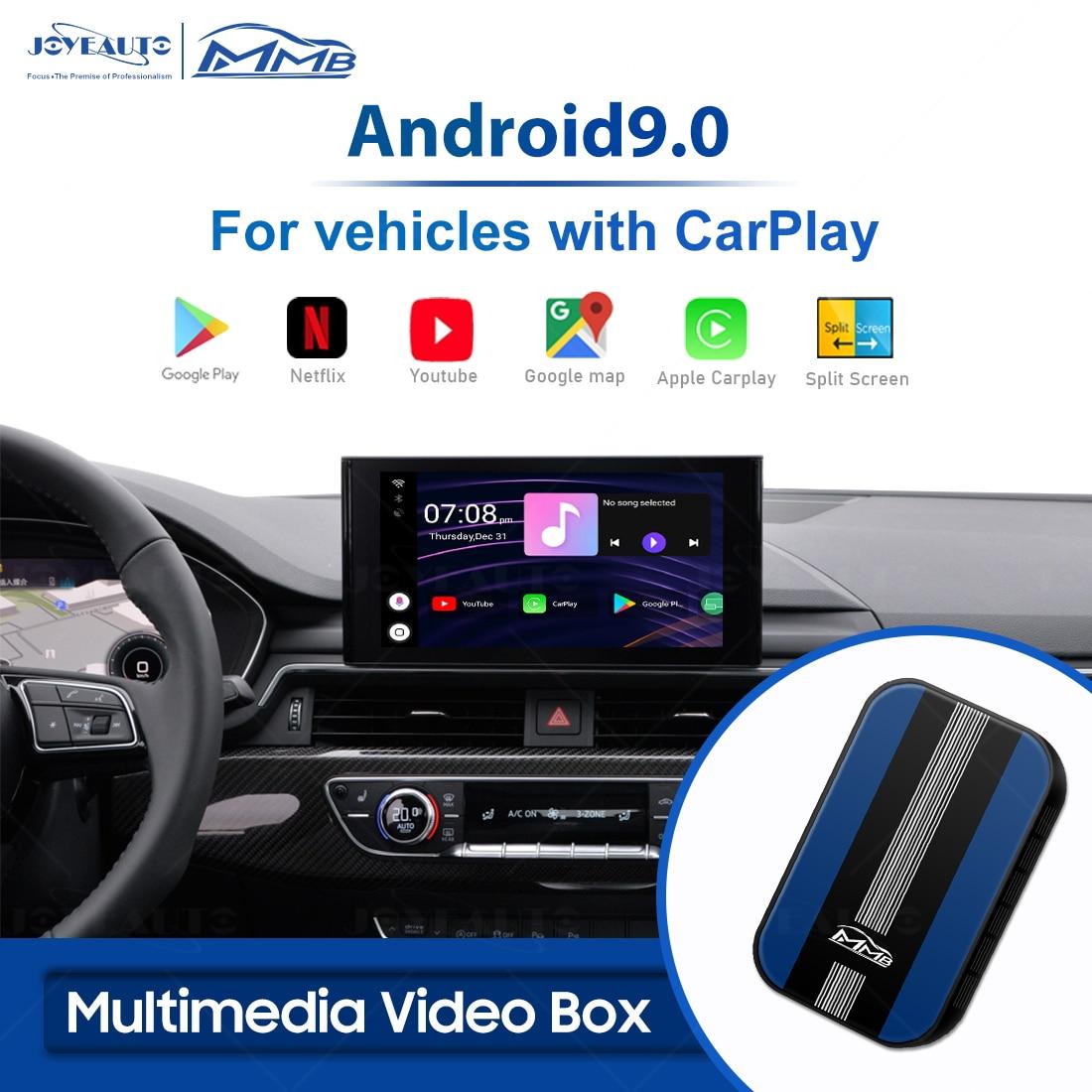 MMB Android Ai Box Universal For KIA Hyundai GMC Dodge RAM Audi Mercedes Androi 9.0 Wireless Carplay Adapter Netflix TV Player