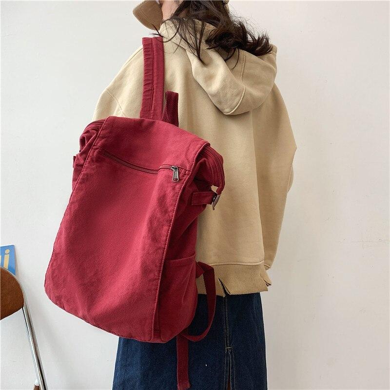 Фото - Korean version of Mori literature and art, ancient sense schoolbag, old washed rucksack, high school, college shoulder bag, warren peltier ancient art of tea