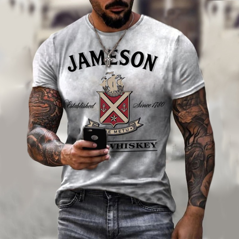 Summer hot-selling fashion and handsome men's compass 3D printed T-shirt 2021 new hip-hop style short-sleeved T-shirt fashion tr