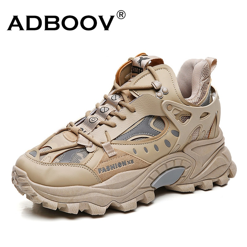 ADBOOV للأزياء الراقية أحذية رياضية مكتنزة الرجال Zapatos Hombre سميكة وحيد حذاء كاجوال