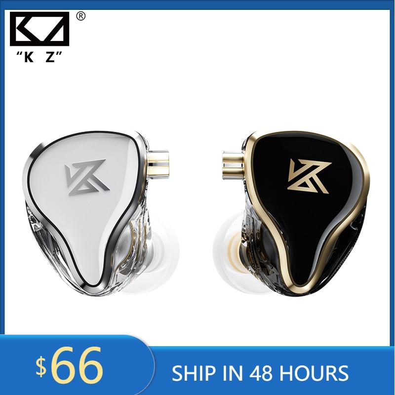 سماعات أذن KZ ZAS مزودة بـ 16 وحدة 7BA + 1DD سماعات أذن هجينة ديناميكية عالية الدقة سماعة رياضية هاي فاي مزودة بخاصية إلغاء الضوضاء داخل الأذن مع مرا...