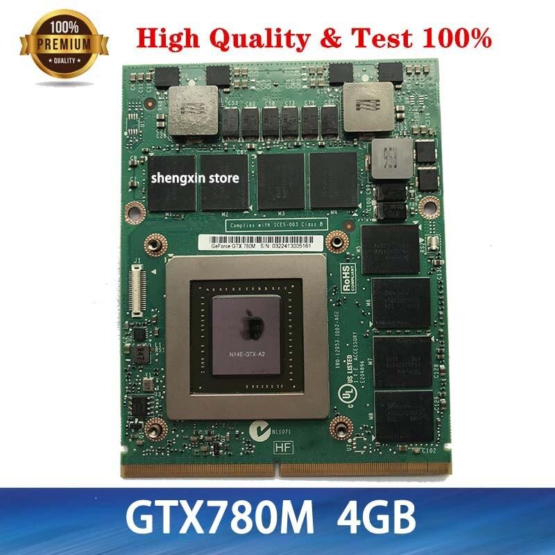 الأصلي GTX780M لديل M18X R2 R3 R4 M17X R4 R5 GTX 780M GDDR5 4GB N14E-GTX-A2 VGA عرض رسم بطاقة