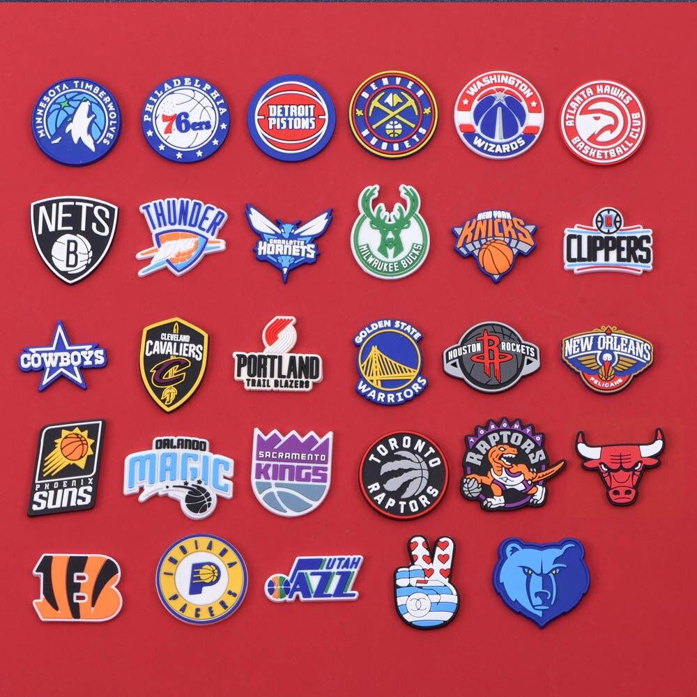 1pcs PVC Basketball Series Croc Charms  Shoe Decorations Accessories Suitable For Men Women And Kids