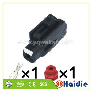 2sets 1pin Toyota auto starter and motor plug wiring cable waterproof connector 6189-0413