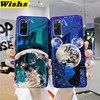 Lujosa funda de teléfono con estampado de Luna y Planeta con Rayo Azul para Samsung Galaxy S20 S10 S9 S8 Plus Note10 Plus 9 8 S20, funda trasera IMD Ultra suave