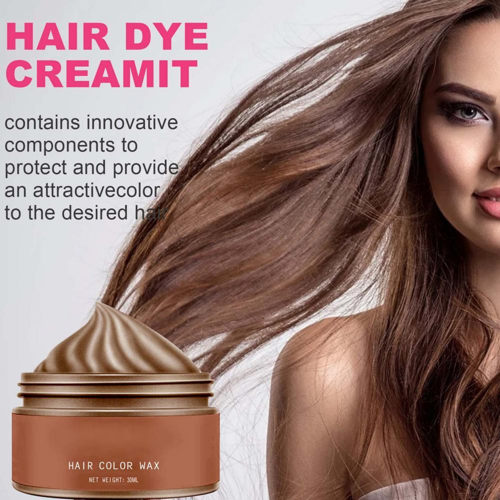 70% Hot Sale 30ml Hair Color Wax Disposable Fast Molding Multiple Colors Natural Styling for Adult