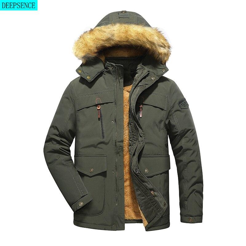 2021 Winter New Padded Jacket Men's Jacket Mid-Length Winter Thick Men's Padded Jacket Korean Style Trendy Jacket Men