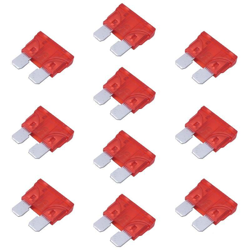 10x 10A fusible automático fusible de hoja ATC 10 amperios fusibles de hoja estándar para coche 1,9x1,9 CM fusibles para automóviles motocicleta para coches camiones autobuses fusibles para barcos