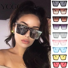 Oversized Square Sunglasses Women 2020 Luxury Brand Fashion Flat Top Frame Red Black Clear Lens Mens