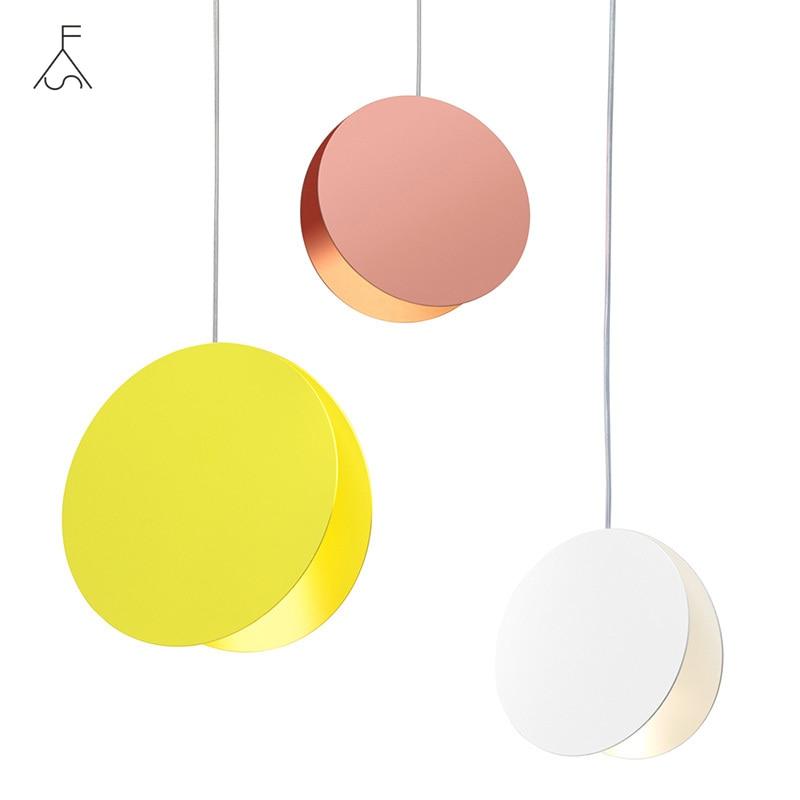 الحديثة قذيفة قلادة أضواء الشمال الدنمارك الملونة معكرون الألومنيوم قلادة LED مصباح تركيبات المطبخ شنقا مصابيح ديكور المنزل