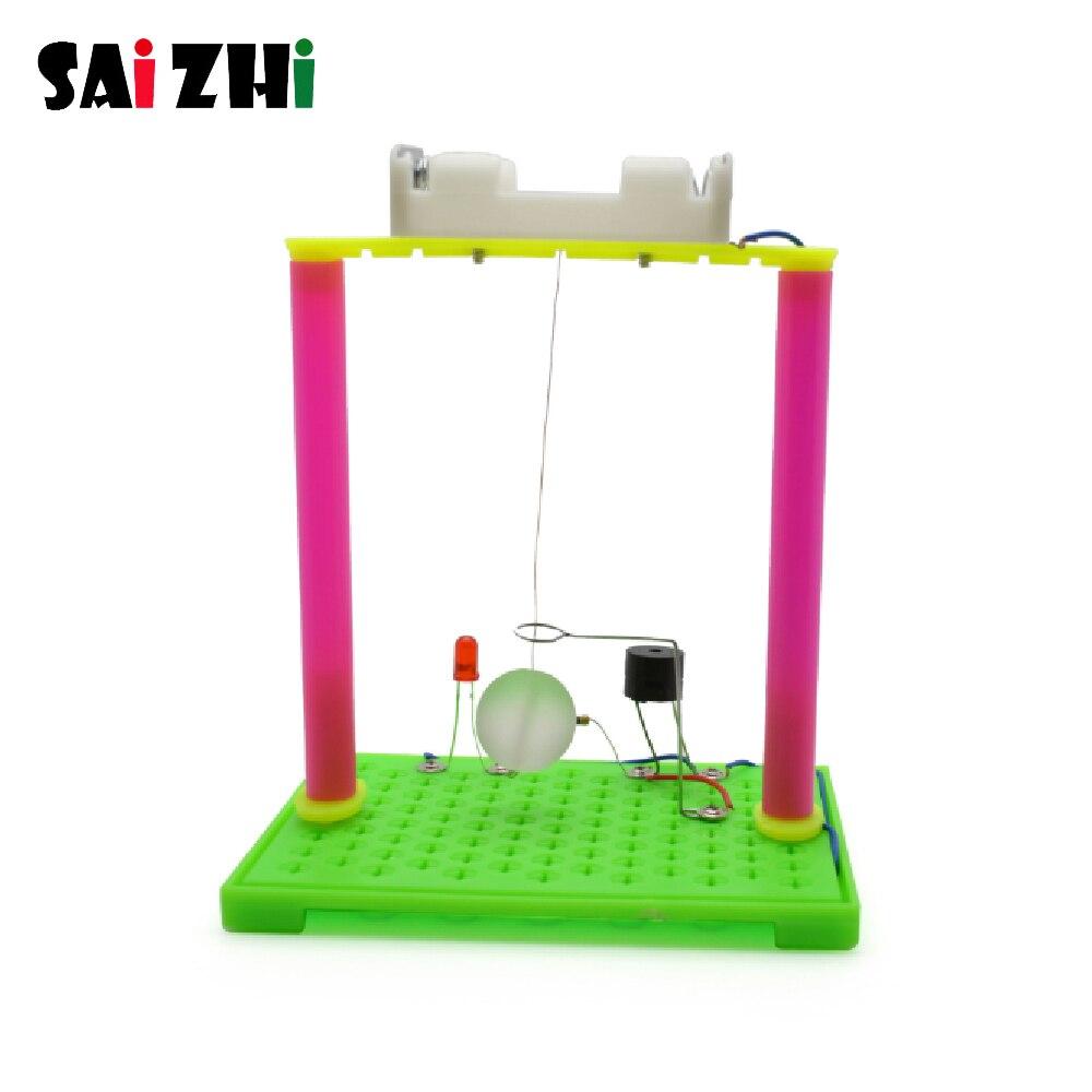 Saizhi divertido experimento de física alarma de terremoto DIY Material Hogar Escuela Kit educativo para niños
