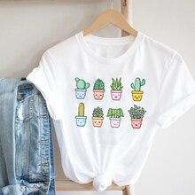 Donne stampa Cactus pianta tendenza Casual estate primavera anni '90 stile moda abiti stampa Tee Top Tshirt T-shirt grafica femminile