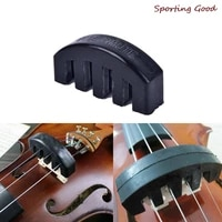 1pcs new violin practice mute heavy black rubber violin silencer acoustic electric
