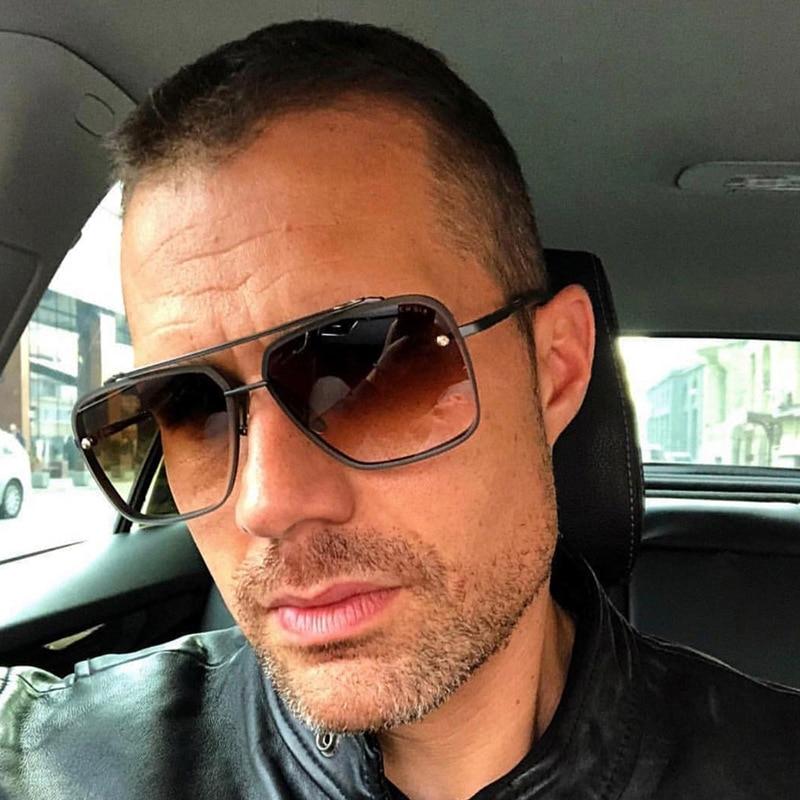 AOZE 2020 Fashion Classic Five style gradient coolunisex sunglasses brand Design men's Vintage sungl
