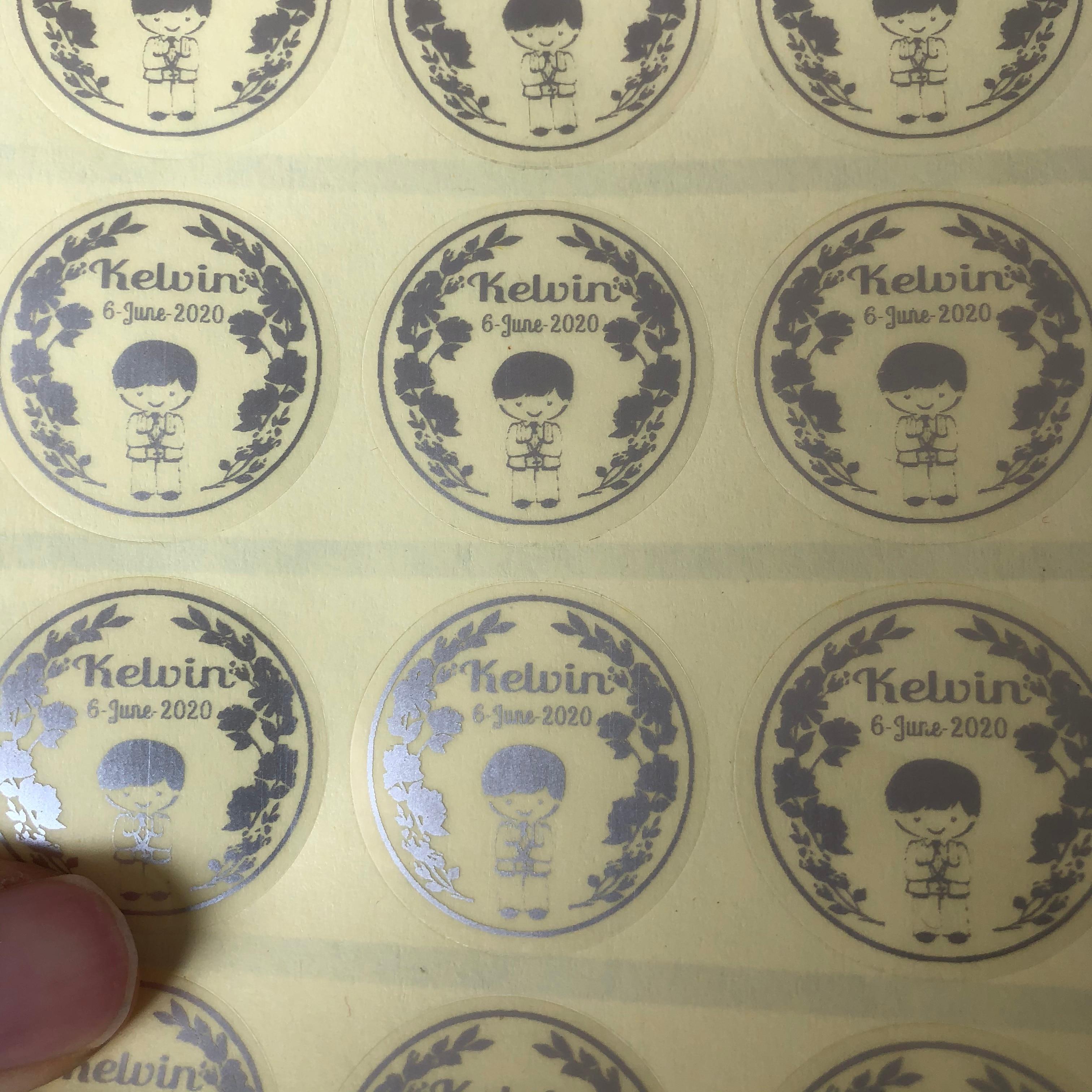 De pegatinas personalizadas para niños, primera comunión, recuerdos para comunión, sellos para invitaciones de bautismo 50