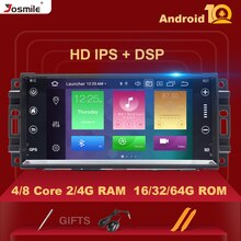 Autoradio multimédia 1Din Android 10   Pour Jeep Grand Cherokee Chrysler 300C boussole Patriot DodgeSebring GPS navigation stéréo 4 go
