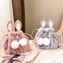 Fourmi filles sacs en peluche sac à dos bonjour mini anime dinosaure bébé souris enfants chaud petit mignon rose lapin seau enfants sac polochon