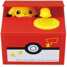 Pokemon Pikachu Bank Anime Electronic Money Box Steal Coin Money Safe Box Action Figure Boy Toys Ban