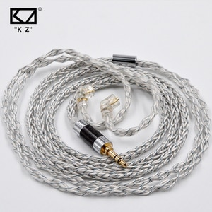 KZ 8 Core Silver Plated Upgrade Cable Earbud Cable KZ ZSX ZS10 PRO ASX ZAX DQ6 ZSN PRO ZSN AS12 AS16 ZSN PRO X