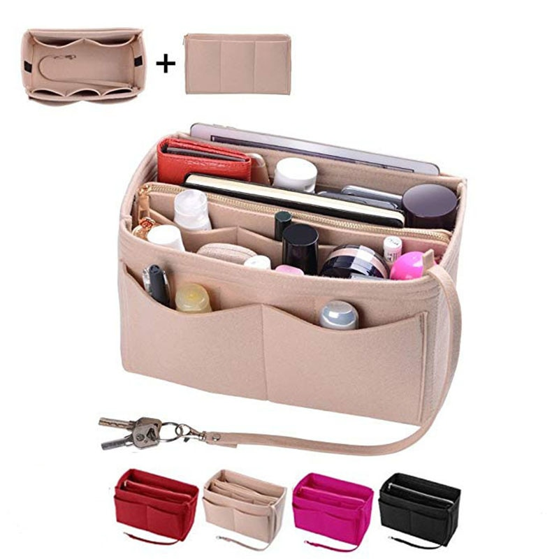 felt handbag, storage box and cosmetic bag can be carried with you. It is an ideal choice for travel. Portable cosmetic