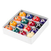 16 stücke 25mm Harz Mini Billard Ball Kinder Spielzeug Kleine Pool Queue Bälle Volle Set E8BF