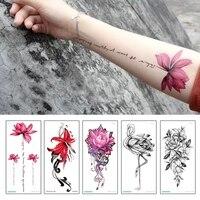 fashion colorful flowers tattoo women new waterproof temporary black tattoo sticker body art fashion colorful flowers tattoo