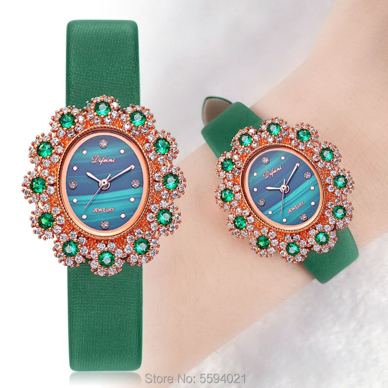 Di Feini Ms. female models diamond watch waterproof casual fashion watch quartz watch Ms. birthday gift belt section enlarge