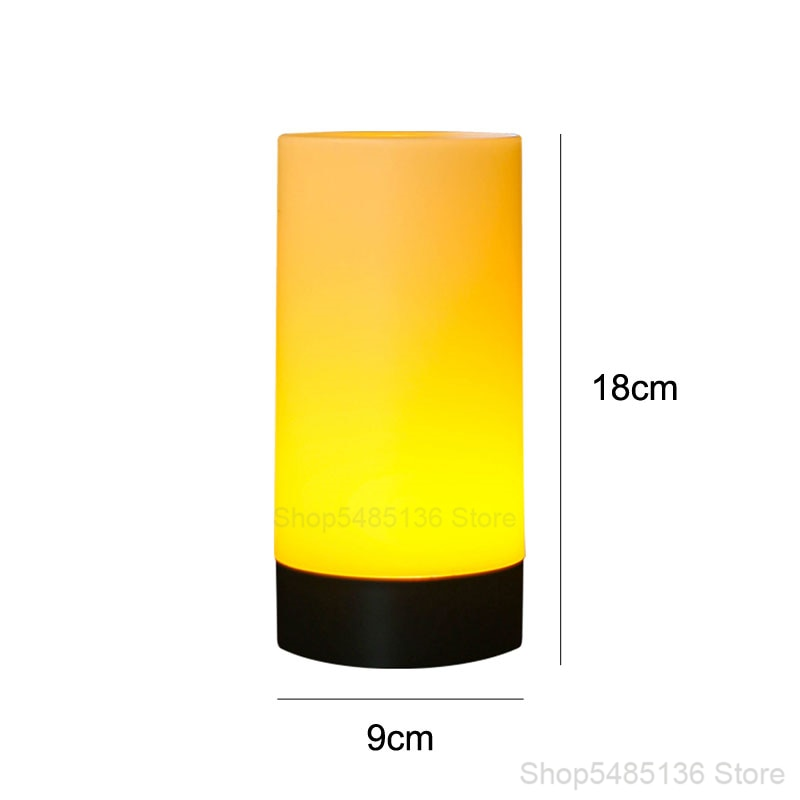 RGB Bar Table Lamps Cordless Colorful Restaurant Desk Lamp Bedside Modern Led Chargeable Battery Atmosphere Night Light Fixtures
