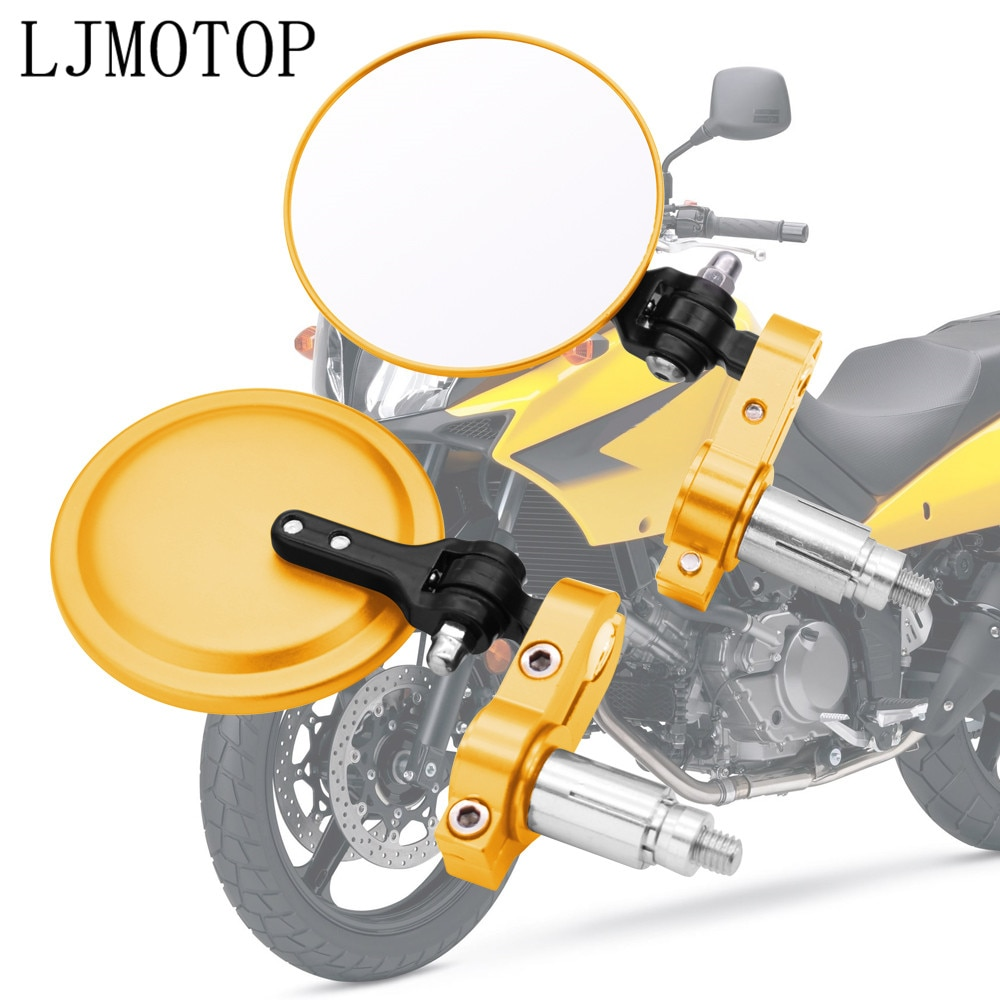 22mm motocicleta de aluminio de la manija de la vista trasera del extremo de la barra espejos retrovisores laterales para honda cb190r cb1000r monkey yamaha xt600 drz400