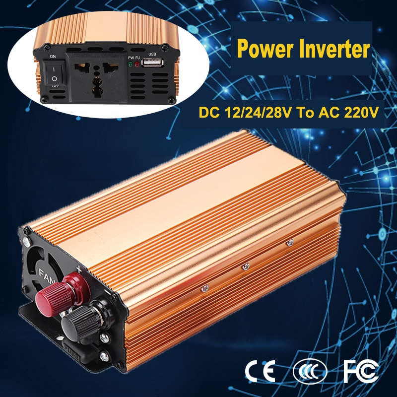 DC 12/24/48V إلى AC 220v LED 3000W نقي شرط موجة السلطة العاكس عكس قطبية حماية