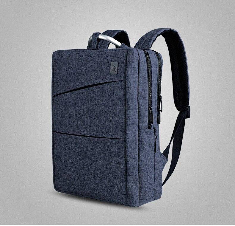 CAI School Bag for Men Women Teenage Boy Collage Preppy Style Backpack Laptop Travel bags Waterproof Minimalism Multi-Layers