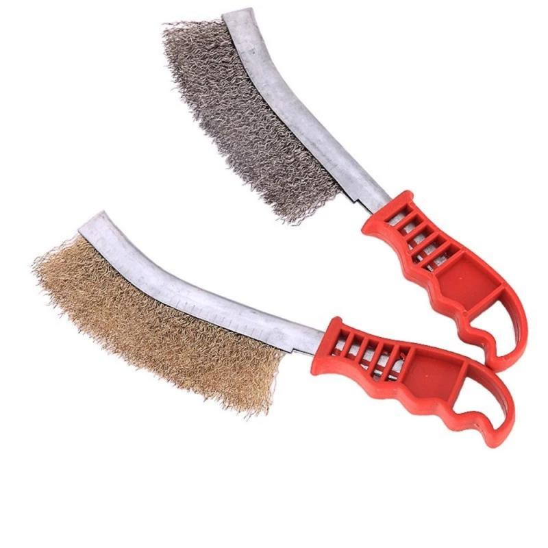 Knife-shaped Steel Wire Brush Barbecue Cleaning Stainless Steel Wire Iron Brush  Steel Copper Derusting Brushsteel Wire Brush