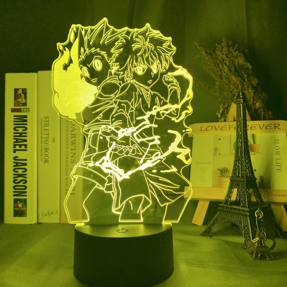 Hunter X Hunter Gon and Killua Figure Model Toys 3d Lamp Nightlight Hunter X Hunter Anime Figurine Collection Led Toy
