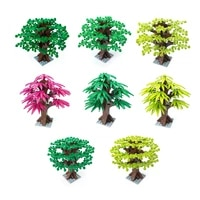 moc small particle building blocks tropical rain forest flowers and trees plant forest big trees palm trees assembling parts