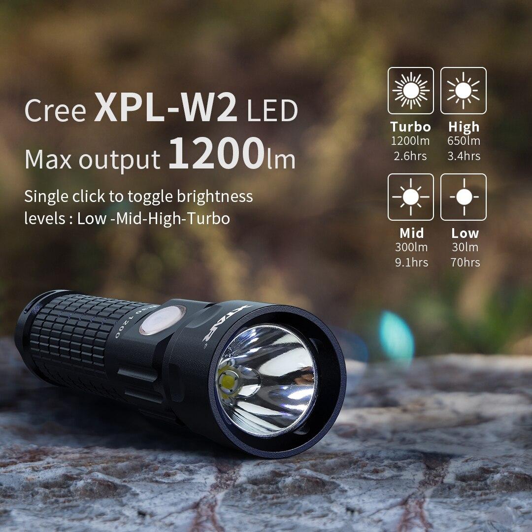 xtar super brilhante lanterna r30 1200 poderosa luz da mao led powerbank funcao lanter