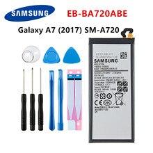 SAMSUNG original EB-BA720ABE 3600mAh batterie pour Samsung Galaxy A7 2017 version A720 SM-A720 A720F SM-A720S A720F/DS + outils