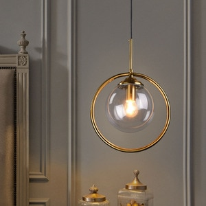 Thrisdar Loft Glass Globe LED Pendant Lamp home Kitchen Island dining Room Hanging Lamp living room bar cafe droplight fixture