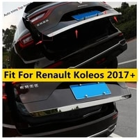 yimaautotrims stainless steel exterior kit fit for renault koleos 2017 2020 rear trunk tailgate door bottom lid cover trim