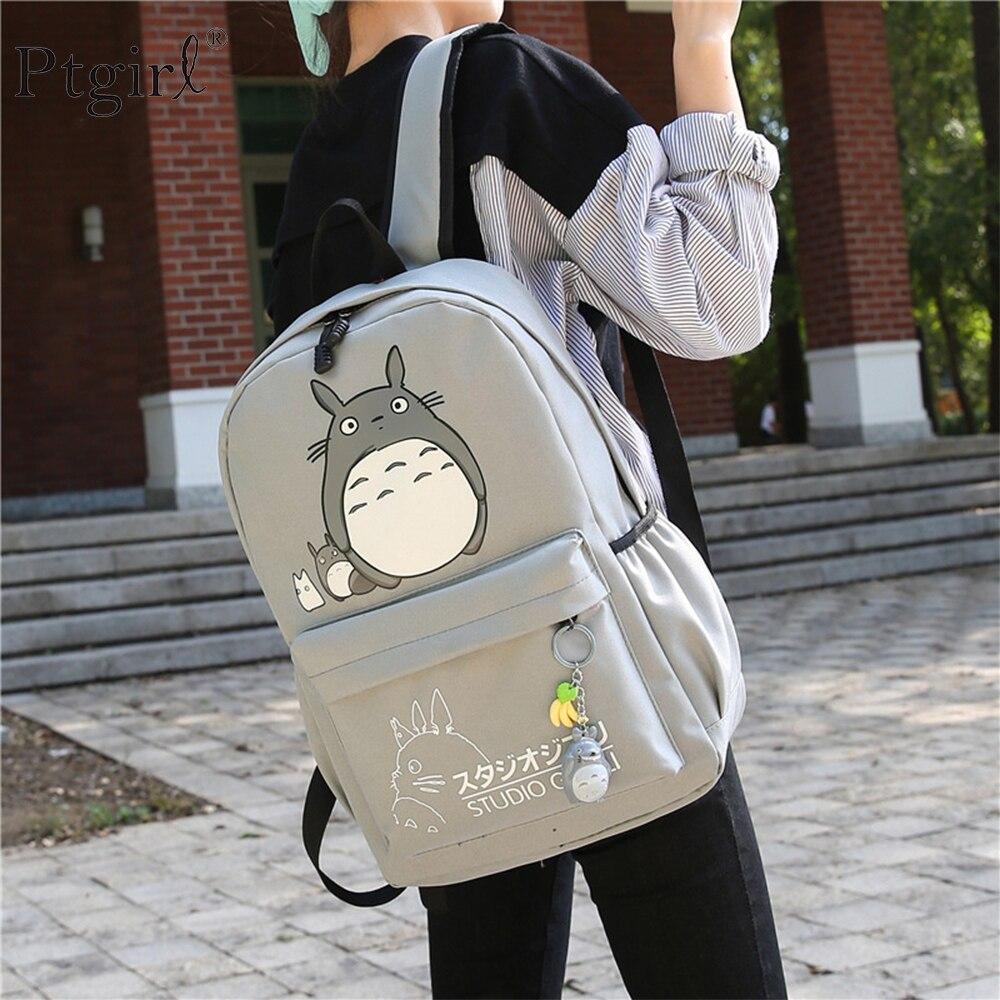 Nueva mochila escolar Totoro, impresión 3D, mochila de viaje softback para mujeres, mochila escolar Ptgirl, cuaderno para niñas