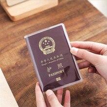 Clear กันน้ำสิ่งสกปรกผู้ถือหนังสือเดินทางกระเป๋าสตางค์โปร่งใส PVC ID ผู้ถือบัตรใส่นามบัตร