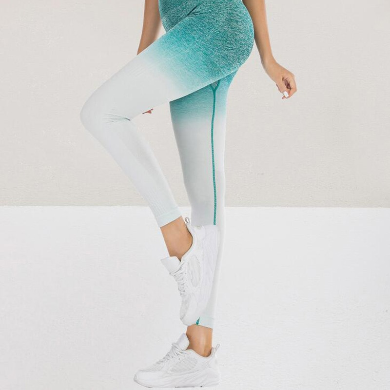 Mujer entrenamiento Leggings ropa deportiva gimnasio deporte Sexy mallas de cintura alta Mujer Pantalones calzas para yoga ropa activa
