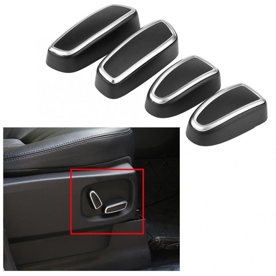 Embellecedor decorativo para interruptor de botón de ajuste de asiento 4 Uds. Para Land Rover discotecas 4 LR4 2009 2010 2011 2012 2013 2014 2015 2016