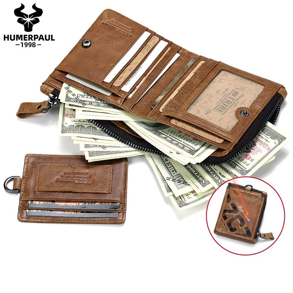 New Arrivals Vintage Men Leather Brand Luxury Wallet Short Male COIN Purses Credit Card Dollar Price Portomonee Money Pocket
