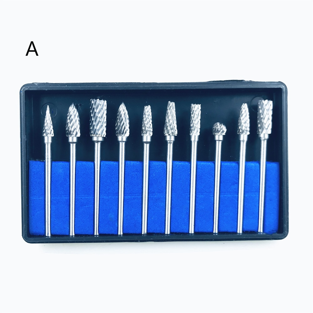 1 Juego de taladros de laboratorio Dental, fresas de carburo de tungsteno de acero, taladro de pulido para blanqueamiento Dental