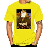 Funny Stocks Dogecoin K-line Bitcoin 2021 New Arrival T-Shirt Mona Doge Unique Crewneck Cotton for Men