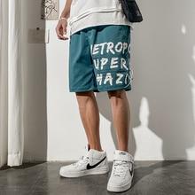 Mens Summer Cotton Shorts De Hombre Letter Printed Sweatpants for Men Clothes 2020 Drawstring Hombre Verano Sport Shorts Homme